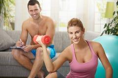 Biceps exercise Royalty Free Stock Photos