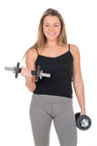 Biceps exercise Stock Image