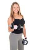 Biceps exercise Royalty Free Stock Image