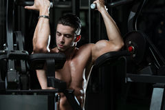 Biceps Exercise Stock Images