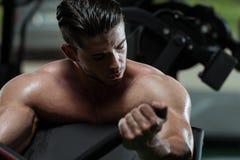 Biceps Exercise Stock Photo