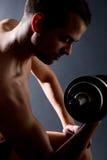 Biceps exercises Stock Image
