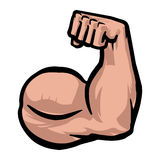 Biceps Flex Arm Vector Icon Illustration Stock