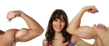 biceps flexed Στοκ Φωτογραφία