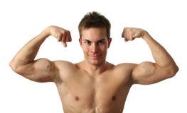 biceps flexing Στοκ φωτογραφίες με δικαίωμα ελεύθερης χρήσης