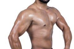 biceps flexing his man muscular Στοκ εικόνες με δικαίωμα ελεύθερης χρήσης