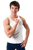 biceps man uppvisning Royaltyfri Bild