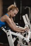 Biceps training Stock Photos
