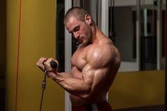Bicepsa ćwiczenie obrazy royalty free