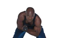 bicepsa excersice obrazy stock
