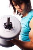Bicepsa kędzior z dumbbell Obrazy Royalty Free