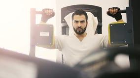 Bicepsa trening zbiory wideo