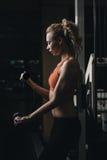 Bicepsen opleiding Stock Fotografie