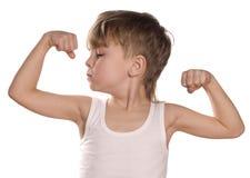 bicepspojke som slader little Royaltyfria Bilder