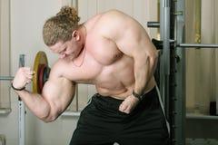 bicepsy demonstraiting Obraz Stock