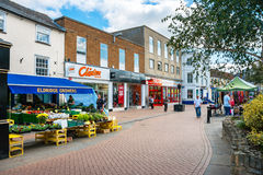 Bicester Village. England. BICESTER, ENGLAND - SEPTEMBER 25, 2009: View of Sheep street in outlet village. Oxfordshire Stock Image