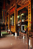 Bich东塔的内部, Ninh Binh,越南 库存照片