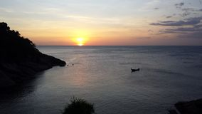Bich di paradiso di tramonto di Phuket Fotografia Stock Libera da Diritti