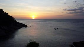 Bich do paraíso do por do sol de Phuket Fotografia de Stock Royalty Free