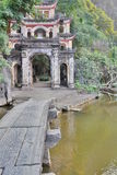 Bich Dong cave temple gate. Ninh Binh. Vietnam Stock Photo