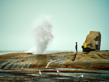 Bicheno Blowhole Stock Photography