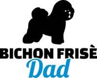 Bichon Frise爸爸剪影 库存例证