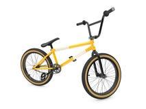Bici amarilla de los deportes Foto de archivo libre de regalías