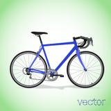 Bici azul Fotos de archivo libres de regalías