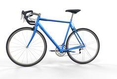 Bici azul del deporte Imágenes de archivo libres de regalías