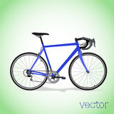 Bici blu Fotografie Stock Libere da Diritti