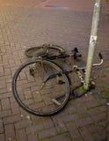 Bici caida Fotografía de archivo libre de regalías