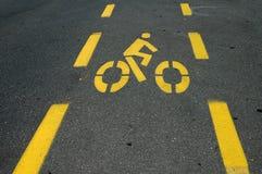 Bici-carril foto de archivo