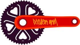 Bici chainring Fotografía de archivo libre de regalías