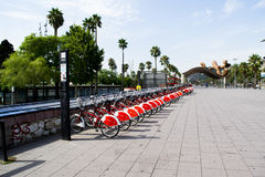 Bici che divide a Barcellona Spagna immagine stock libera da diritti