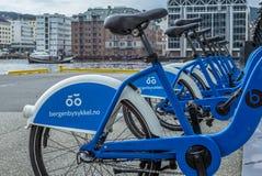 Bici che divide il bergenbysykkel di programma a Bergen Fotografia Stock Libera da Diritti
