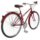 Bici classica con bagagli grafico 3D Immagine Stock