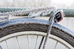 Bici congelada Foto de archivo libre de regalías