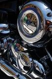 Bici cromata del motore Immagini Stock
