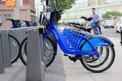 Bici de Citi en New York City Imagenes de archivo