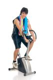 Bici de la aptitud del adolescente Foto de archivo libre de regalías