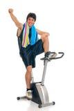 Bici de la aptitud del adolescente Foto de archivo