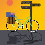 Bici de la entrega Foto de archivo libre de regalías