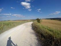 Bici de la grava alrededor de Siena imagen de archivo
