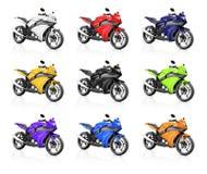 Bici de la moto de la motocicleta que monta a Rider Contemporary Concept Imagenes de archivo