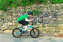 Bici de la muchacha BMX Fotografía de archivo