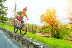 Bici de la muchacha BMX Imagen de archivo