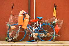 Bici de la pesca - Caorle Italia Fotos de archivo libres de regalías