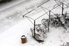 Bici de la ventisca Foto de archivo libre de regalías