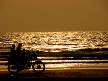 Bici de oro Imagenes de archivo