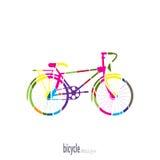 Bici dei segmenti colorati Royalty Illustrazione gratis